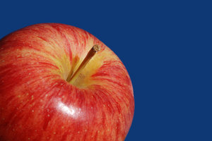 Royal Gala closeup: apple closeup, Royal Gala