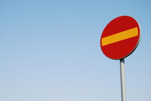Traffic Sign 19: Part of Traffic Sign Series consisting of 29 traffic signs captured in Sweden, all with a blue sky or partly cloudy background.Check out all my traffic signs:http://www.sxc.hu/browse. ..
