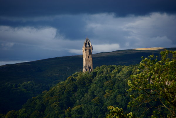 The Wallace Monument: The monument stands on the hill where Wallace's army gathered before the battle of the Stirling bridge.  Now people tell me it looks like Saruman's castle from the Lord of the Ring movie.