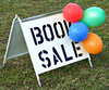 booksale promotion: sign and balloons promoting booksale