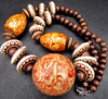baubles, bangles & beads B: necklace made of a variety of beads and shapes