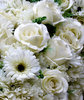 blooming artificial1: bundles of artificial white fabric flowers