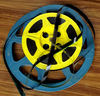 old movie time11: plastic movie reels with 16mm film