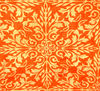 patterned orange fabric2: varied orange patterned and designed fabrics and textiles