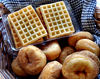 Aussie big breakfast8: Australia Day celebratory big breakfast  --  donuts/doughnuts & waffles