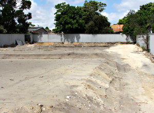 vacant property: empty property being prepared for building foundations