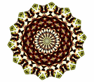 Christmas brown mandala: abstract backgrounds, textures, patterns, geometric patterns, kaleidoscopic patterns, circles, shapes and  perspectives from altering and manipulating image