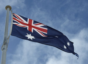 Aussie flag: Australian national flag