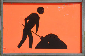 workman sign: workman sign