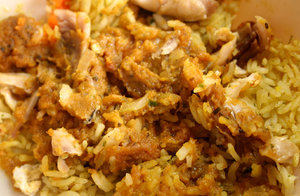 spicy chicken & rice: spicy chicken & rice meal