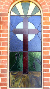 from the outside: art glass - stained glass windows from the outside