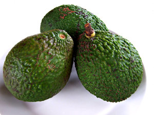 avocados - green: unripened green avocados