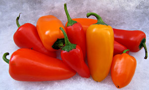 peppers: small colourful peppers