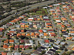 on the road - from above3: aerial views of traffic on highways through the suburbs