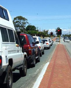 on the road again2b: left-hand drive vehicles on Australian suburban roads