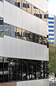 angles & reflections: modern linear city buildings, angles and reflections