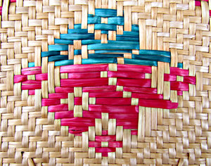fan colours: flat Burmese woven cane fan