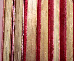 old books: collection of old books seen close up - in various conditions