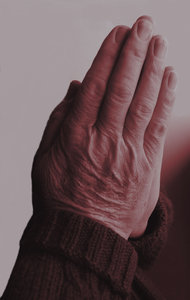 praying hands 8: man's hand as in prayer