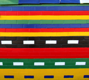 wall colours1: brightly painted brick wall