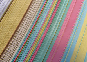 multicoloured cards2: colourful edges of coloured filing record cards