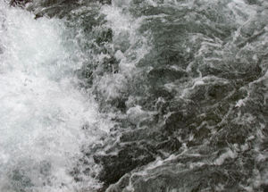 riding the rapids3: fast flowing stream of turbulent water