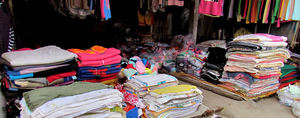 local market12a: clothing & haberdashery at local Cambodian general market
