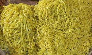 local market49: fresh flat and round noodles  at local Cambodian general market