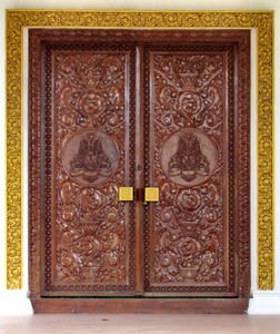 ornate doorway: Cambodian ornate carved doorway