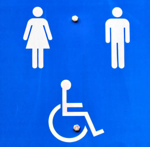toilet facilities sign: toilet facilities sign with handicapped access