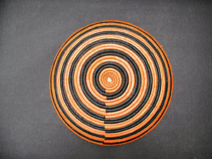 African coiled bowl1: African hand-made coiled woven basketry bowl