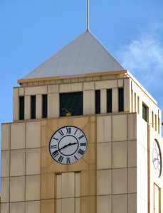 art deco clock tower1: large city  art deco commerical business complex  tower clock
