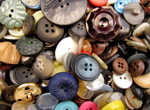 mixed buttons4: a variety of different sized, shaped and coloured buttons