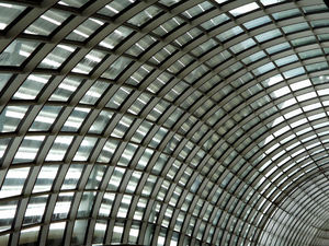 inside the curve1: curved ceiling wall windows