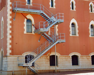 fire escapes4: historic rural monastery hostel with added fire escape