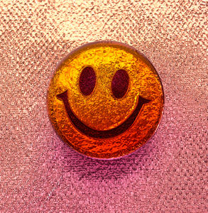 copper foil smile: abstract copper foil smiley face