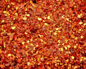 dried chilli flakes2: bowl of home-dried chilli flakes