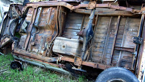 at the wrecker's yard5: vehicle wreckers salvage yard