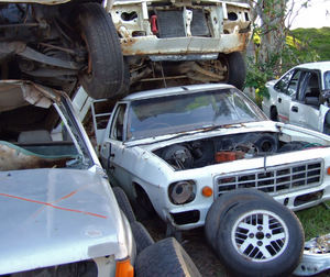 at the wrecker's yard11: vehicle wreckers salvage yard