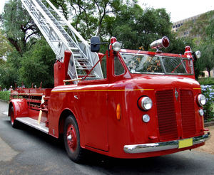 vintage vehicles2: display of historic fire engines