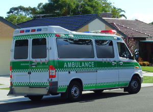 on standby1: ambulance on standby near accident scene