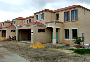 still under construction1: construction of suburban two-storey home units