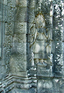 temple dancers21: artistic carvings of temple dancers at Cambodia's Angkor Wat temple complex