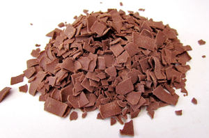 chocolate flakes1: milk chocolate flakes for desserts and sandwich toppings
