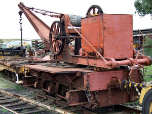 railway repair yard3: old railway repair equipment used in restoration work