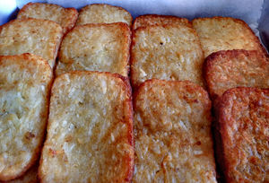 breakfast abundance13: pre-Christmas function breakfast - hash browns - potato cakes