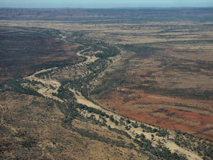 inland terrain29: central Australian terrain seen from above