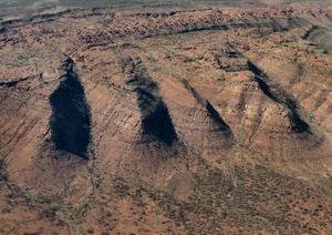 inland terrain 5-17: central Australian terrain seen from above