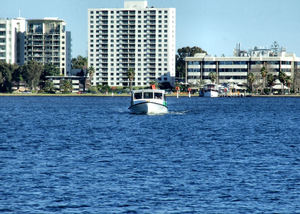 river ferry1: ferry on the Swan River
