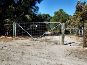 limited access: limited access entrance to bushland reserve